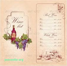 Free Wine List Template Download Download Our Sample Of Wine Menu Templates U2013 31 Free Psd Eps