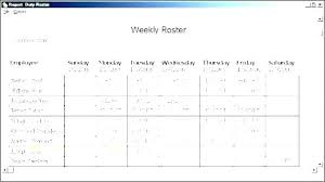 Duty Schedule Template Free Work Recess Rotating Shift Yard