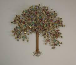 spring blossoms tree metal wall art decor indoor single