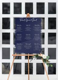 Modern Wedding Seating Chart Amazon Com Wedding Seating Chart Signs Clear Painted For