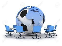 globe office chairs. Abstract Illustration - Soccer Ball, Earth Globe And Office Chairs Stock 14617934 A