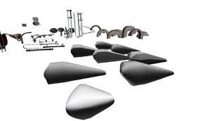 second life marketplace chopper parts kit ii 66 motorcycle parts