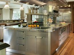 Wood Utility Cabinet Stainless Steel Top Kitchen Island Brown Oak Wood Kitchen Cabinet