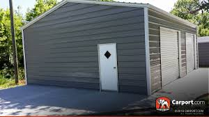 single car garage doors. Two Car Metal Garage Building With Roll Up Doors And One Man Door . Single O