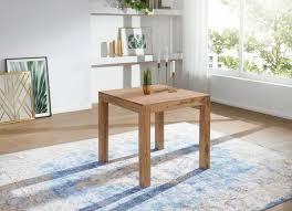 WOHNLING Esstisch MUMBAI Massivholz Akazie 80 Cm Esszimmer Tisch Holztisch  Design Küchentisch Landha