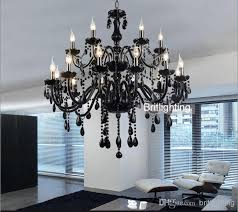 black murano glass crystal chandelier light modern black regarding awesome home black and crystal chandeliers remodel