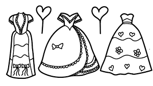 Small Picture Coloring Page of Pretty Dresses Coloring Book for Kids YouTube