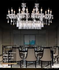 modern design k9 crystal chandelier hotel restaurant dinging room table top chandelier lighting with rectangular crystal chandelier light teardrop