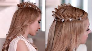 Goddess Hair Style braided crown halo hairstyle for medium long hair princessfairy 3052 by wearticles.com