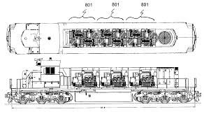 patent us7565867 multiple engine locomotive configuration patent drawing