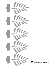 plant pattern border stencil for wall