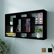 Image Contemporary Floating Shelf Hanging Storage Unit Wall Mount Display Rack Open Compartments Ebay Floating Shelf Hanging Storage Unit Wall Mount Display Rack Open