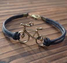 10pcs bulk bike bracelet bicycle single bracelet for men quality black wax cord leather best gift jewelry for friendship