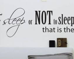 Amazing Bedroom Wall Decal  To Sleep Or NOT To Sleep Wall Decal  Large  Bedroom
