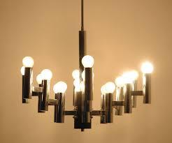 Vintage Light Lamp Italian Art 18 Bulbs Sciolari Style Etsy