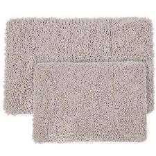 light grey 21 in x 32 in memory foam 2 piece bath