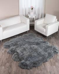 gray sheepskin rug home design dover grey extra large 8 pelt octo 7x6 ft 7