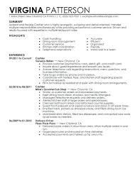 Examples Of Resumes For Cashiers Customer Service Cashier Resume