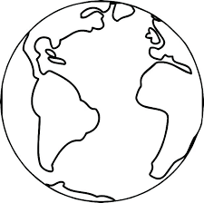 Earth Coloring Page Template Psubarstoolcom