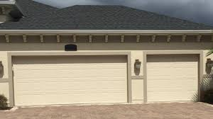 standard 3 car garage doors with raised panels