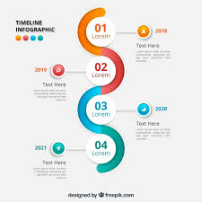 timrline wavy infographic timeline design vector free download
