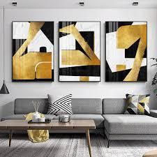 framed wall art gold leaf and black