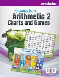 Abeka Homeschool Arithmetic Charts Games Grade 2 New Edition