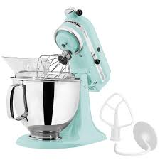 Kitchen Aid Ice Blue Kitchenaid Ksm150psic Ice Artisan Series 5 Qt Countertop Mixer