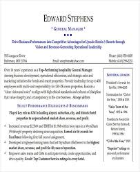 Sample Hotel General Manager Resume 38 Manager Resume Templates Pdf Doc Free Premium