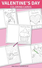 Then check out these free printable valentine cards for kids that we designed. Printable Coloring Valentines Day Cards Messy Little Monster