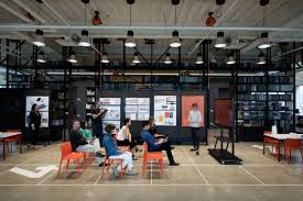 open ceiling lighting. The Largely Open-concept Floor Plan Utilizes Lighting To Segment Areas And Complement Influx Of Natural Light From Floor-to-ceiling Windows That Open Ceiling E