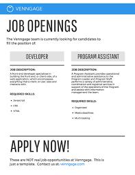 Job Posting Template Job Posting Infographic Template Template Venngage