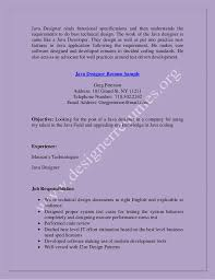 Technical Designer Resumes Java Designer Resume