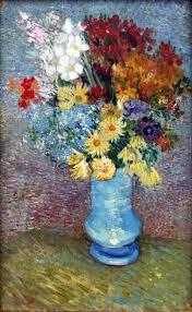 file van gogh flowers in a blue vase june 1887 jpg