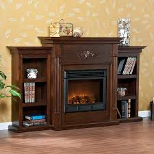 sei tennyson electric fireplace with bookcases ivory 28