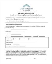 Recurring Payment Authorization Form Recurring Payment Authorization Form Resume 52 Lovely Credit Card