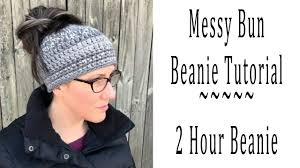 Messy Bun Beanie Knitting Pattern Unique Inspiration