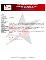 Thank You From Sharyland Isd Education Foundation Employee