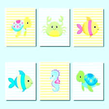 fish bathroom kids fish bathroom decor fish bathroom decor seahorse bathroom decor sea animals wall art fish bathroom
