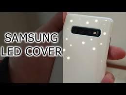 LED <b>Cover</b> или обложка с анимацией для <b>Samsung Galaxy</b> S10+