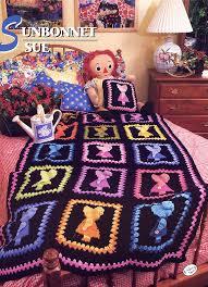 Sunbonnet Sue Quilt Designs   Sunbonnet Sue Crochet Afghan Pattern ... & Sunbonnet Sue Quilt Designs   Sunbonnet Sue Crochet Afghan Pattern - Annies  Attic Crochet Quilt . Adamdwight.com