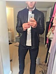 zara mens faux leather jacket large 1 of 3