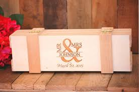 custom wedding enement wine box ceremony keepsake rustic wedding gift box for couples custom engraved anniversary gift