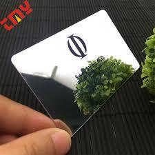 Custom Luxury Die Cut Business Card Printingplastic Mirror Foil