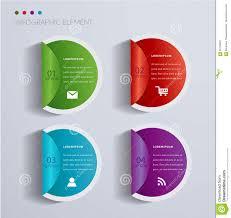 Chart Paper Presentation Paper Form Label Sticker Infographic Design Stock Vector