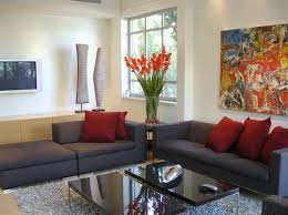 Living Room : Red Grey Sitting Room Decor Design With Hd Pictures ...