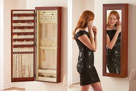 the 45 inch wall mounted lighted jewelry armoire