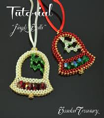 Beaded Christmas Ornaments Patterns Mesmerizing JINGLE BELLS Beaded Christmas Ornament Pattern Beading Etsy