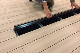 exterpark tech cube the only wpc flooring featuring up to three diffe installation methods