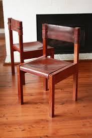 Items similar to SOLD SOLD Mid Century Leather and Wood Chairs Set of by  Griffith Tablecraft Jeremy Griffith on Etsy